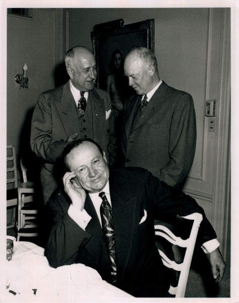 Amon Carter, Dwight Eisenhower, Sid Richardson (seated)