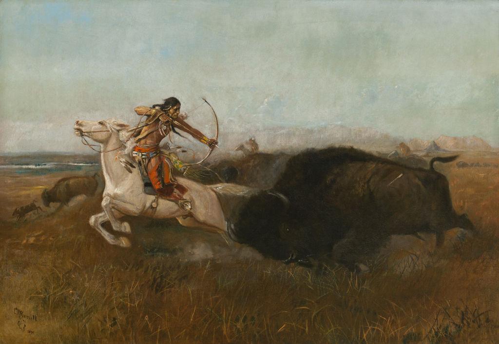 Indians Hunting Buffalo (Wild Men's Meat; Buffalo Hunt)