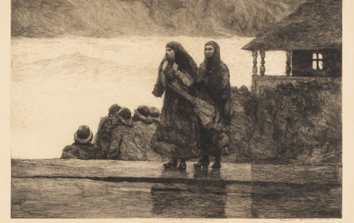Perils of the Sea, Winslow Homer, 1888, Etching, Amon Carter Museum of American Art