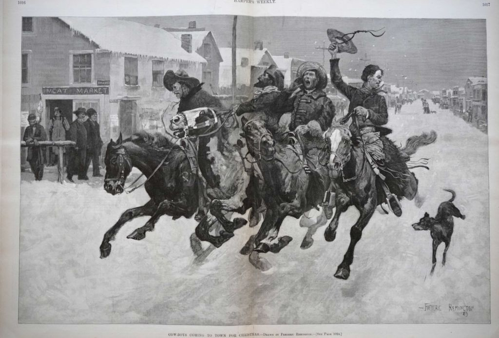 Cow-Boys Coming to Town for Christmas by Frederic Remington