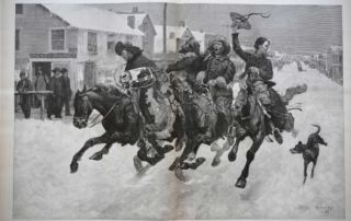Cowboys Coming To Town For Christmas by Frederic Remington