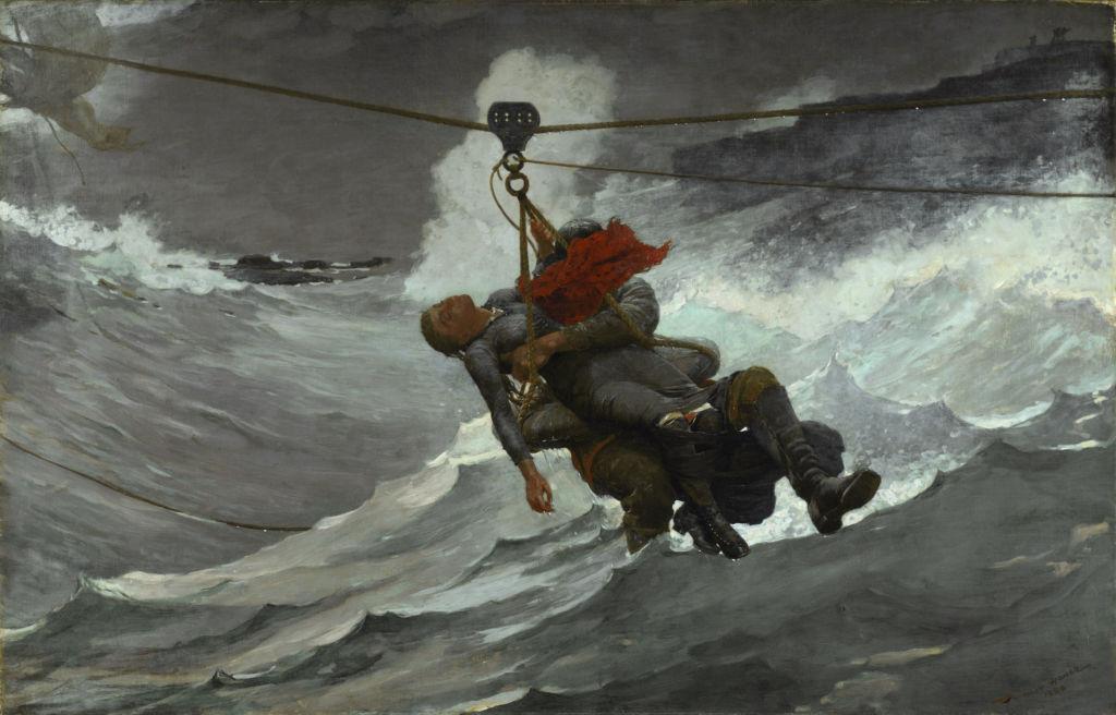 The Life Line | Winslow Homer (1836-1910) | 1884 | Oil on Canvas | Philadelphia Museum of Art