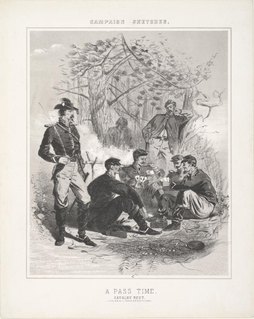Winslow Homer (1836-1910), A Pass Time. Cavalry Rest
