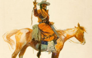 Cover of Collier's Magazine with art by Frederic Remington