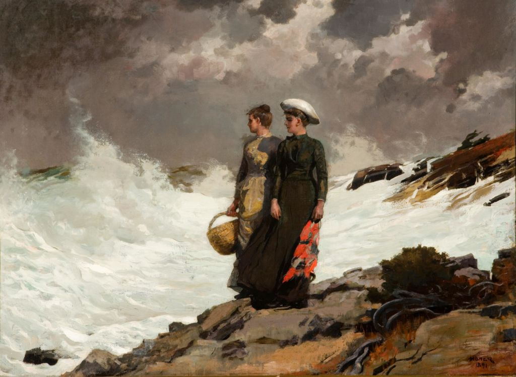 Winslow Homer | Watching the Breakers | 1891 | Oil on canvas | Gift of the Thomas Gilcrease Foundation, 1955 Gilcrease Museum, Tulsa, Oklahoma | Accession No. 0126.2264